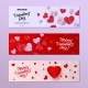 Vector Happy Valentines Day Card Template Set - GraphicRiver Item for Sale