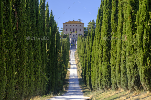 Amelia (Umbria, Italy): Villa Aspreta - Stock Photo - Images