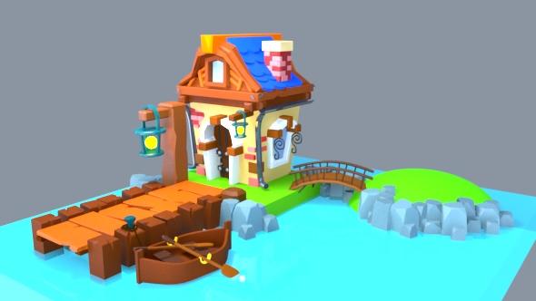 Mini house - 3DOcean Item for Sale