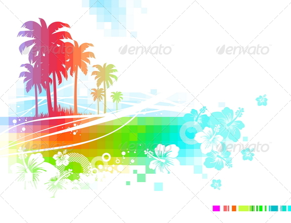 Abstract Tropical Illustration - Landscapes Nature