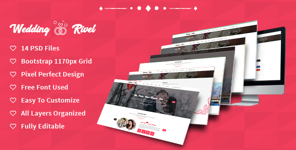 Wedding Rivel PSD Template