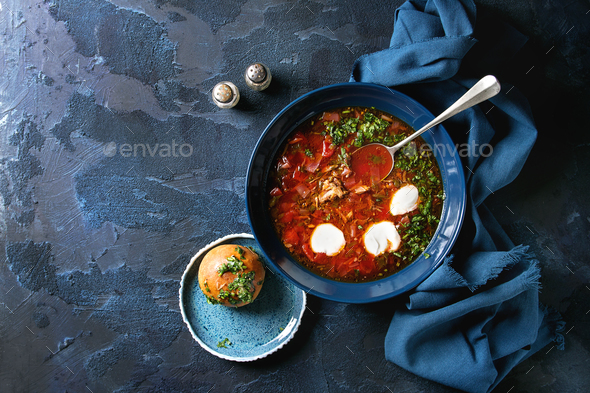 Traditional borscht soup - Stock Photo - Images