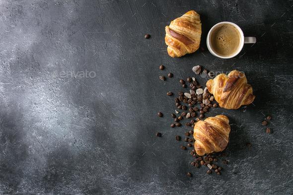 Fresh baked croissants - Stock Photo - Images