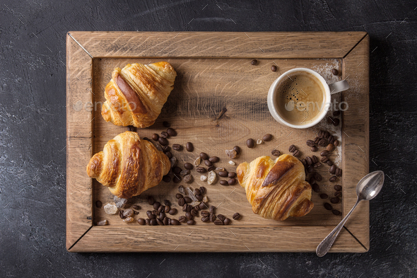 Fresh baked croissants - Stock Photo - Images
