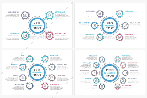 Circle Diagrams Set - Infographics