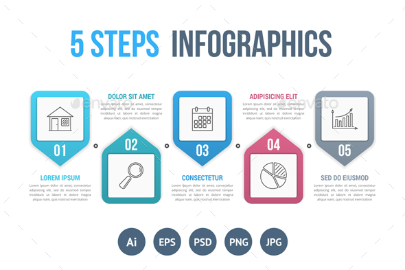 Five Steps Infographics - Infographics