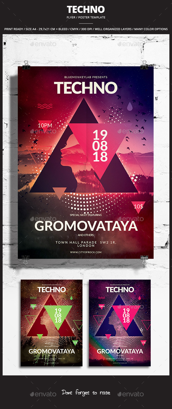 Techno Flyer / Poster - Events Flyers