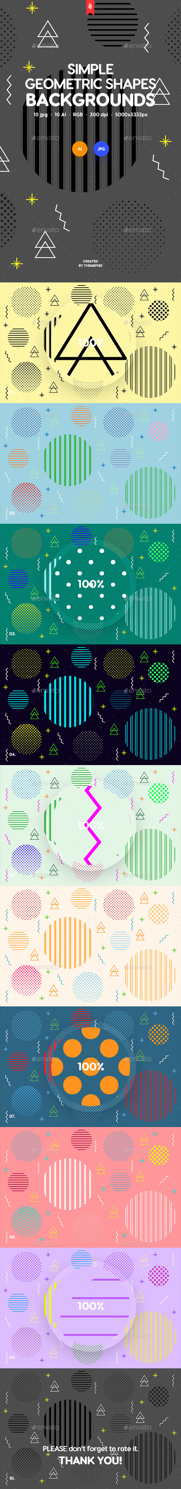 Simple Geo Shapes Backgrounds - Patterns Backgrounds