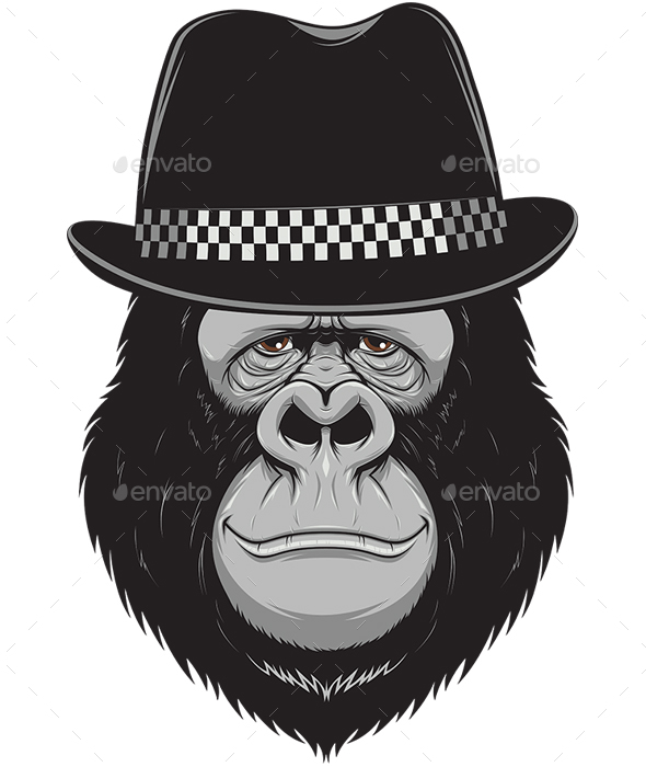 Monkey with a Hat - Animals Characters