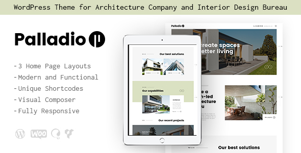 Palladio | Interior Design & Architecture WordPress Theme - Business Corporate