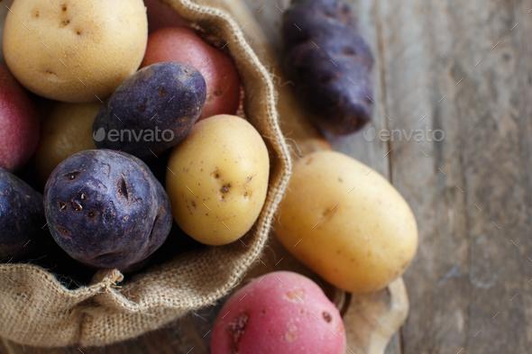 Raw potatoes close up - Stock Photo - Images