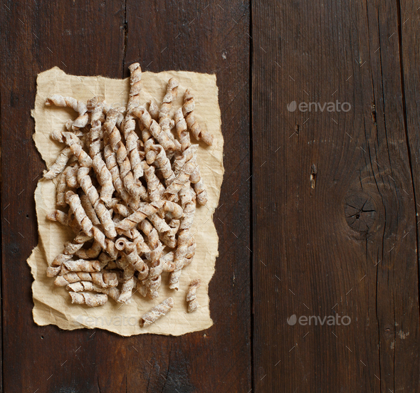 Whole wheat pasta sagne torte - Stock Photo - Images