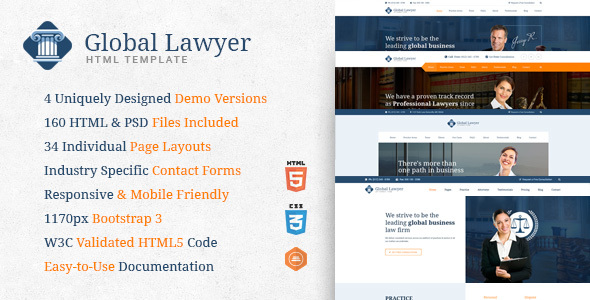 Lawyer - Legal HTML Template for Attorneys and Law Firms