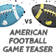American Football Game Teaser - VideoHive Item for Sale