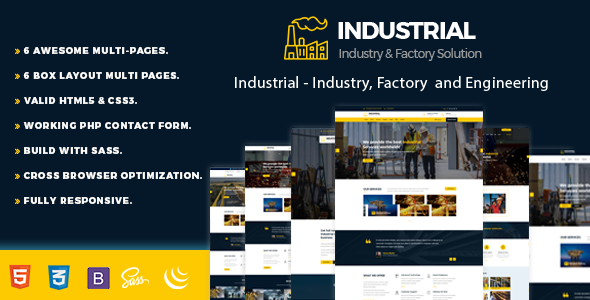 Industrial - Industry, Factory and Engineering Template