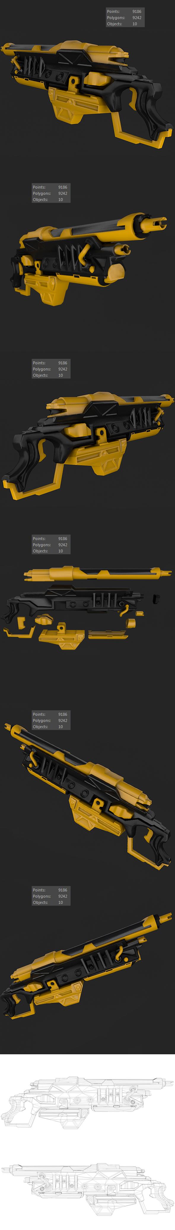 Sci-Fi Gun 01 - 3DOcean Item for Sale