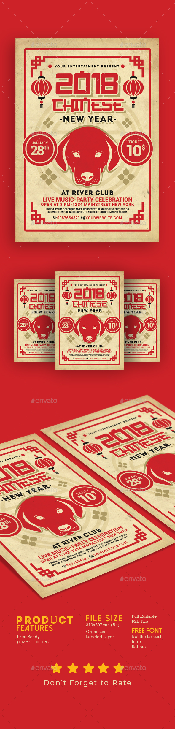 Chinese New Year 2018 - Events Flyers