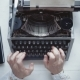 Writer Typing with Retro Writing Machine. - VideoHive Item for Sale