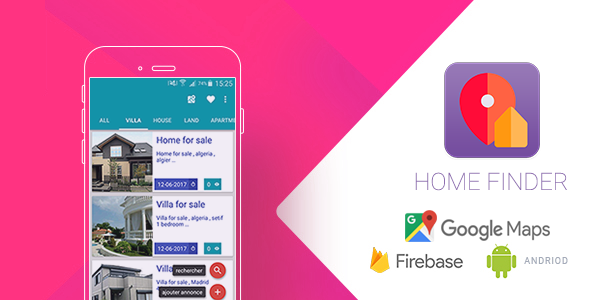 Home Finder V2.1 Realtime Application with Firebase and Google Map