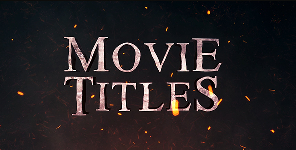 movie titles by mixmedia87 videohive. Black Bedroom Furniture Sets. Home Design Ideas