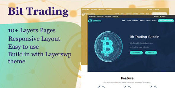 Bit Trading  - Layers WordPress Style Kit - CodeCanyon Item for Sale