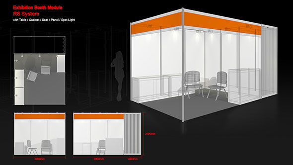 Exhibition Booth Animation : Exhibition booth module by robertshing docean