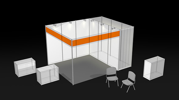 Exhibition Booth Table : Aluminum exhibition booths with lights brochure boxes