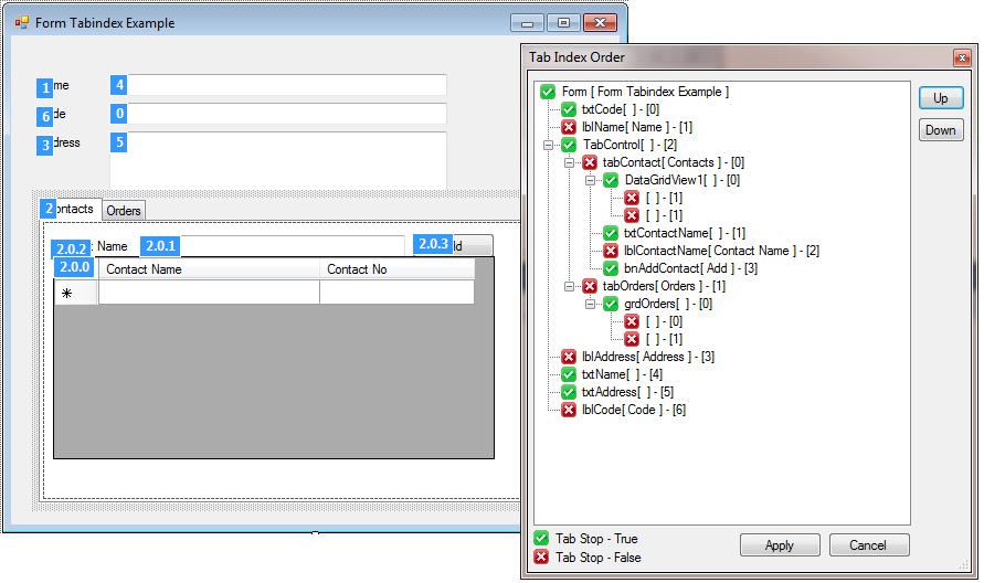 WinForms Tab Index Extension / AddIn