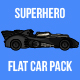 Superhero Flat Car Pack