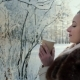 Woman Drinking Tea or Coffee in Winter Park. - VideoHive Item for Sale