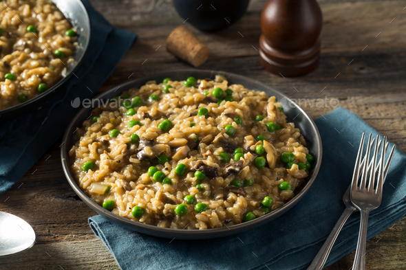 Homemade Savory Mushroom Risotto - Stock Photo - Images