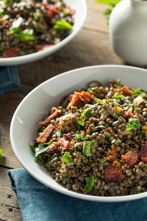 Healthy French Lentil Salad - Stock Photo - Images