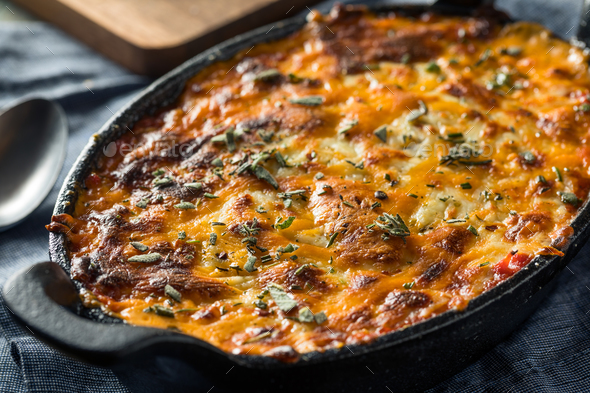 Homemade Baked Pizza Dip - Stock Photo - Images