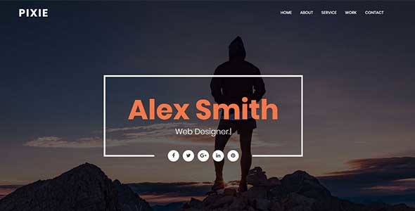 Pixie - Personal Portfolio Template - Personal Site Templates