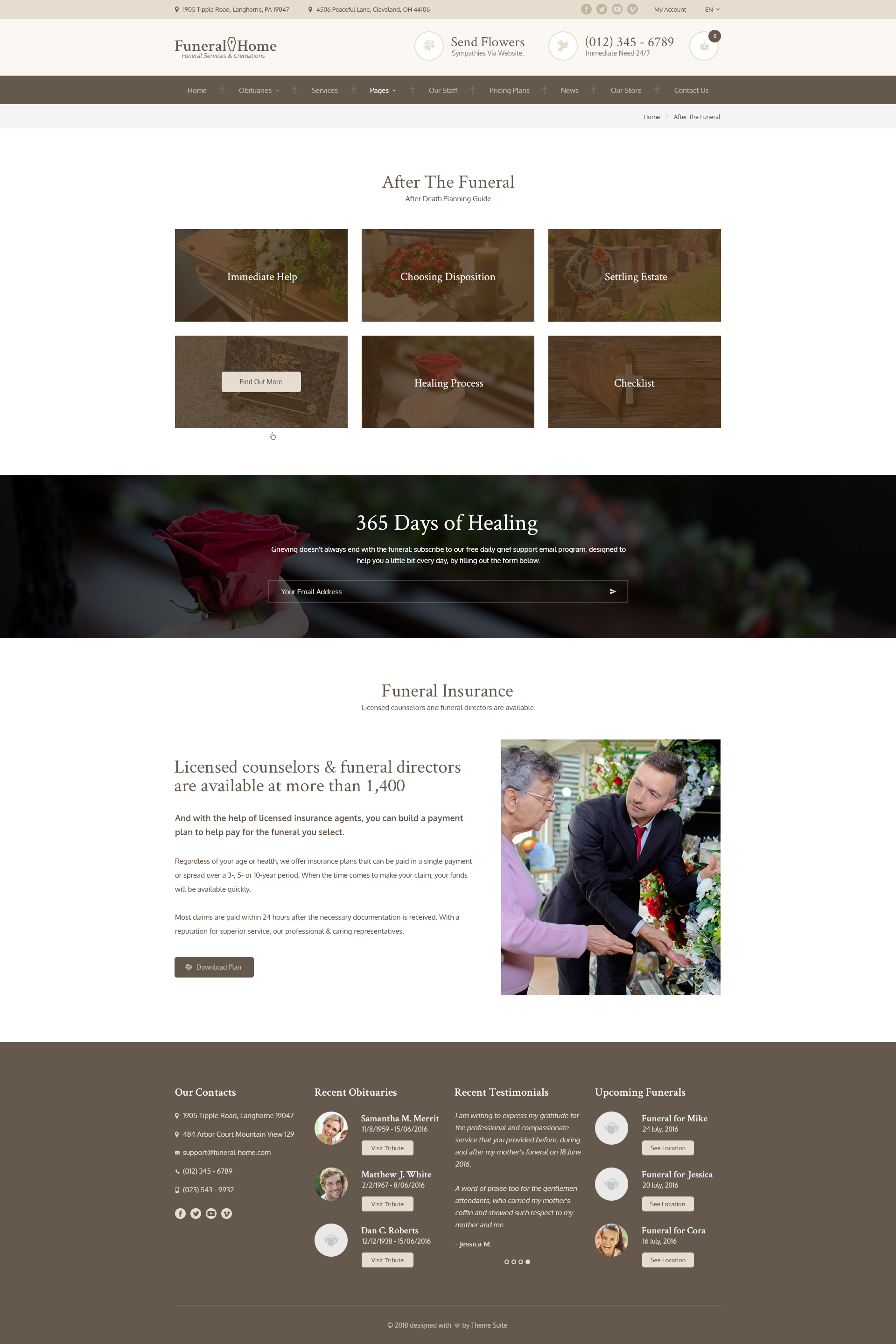 Funeral Home - Funeral Services & Church HTML Template by themesuite
