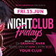 Night Club Fridays - GraphicRiver Item for Sale