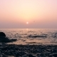 of Sunrise Above the Sea with Rocks in Water - VideoHive Item for Sale