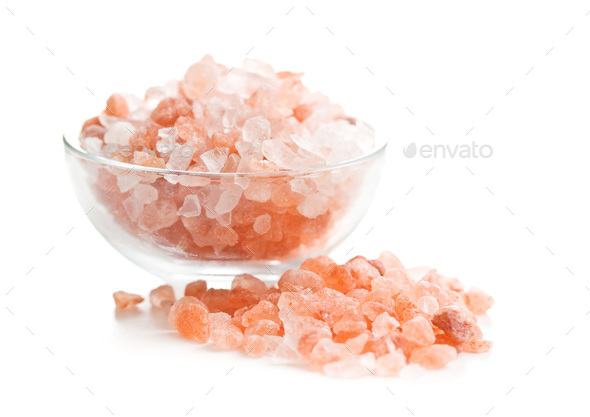 Pink himalayan salt - Stock Photo - Images