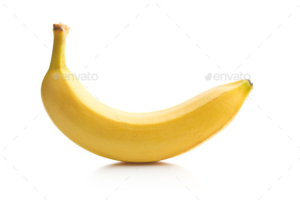 Tasty yellow banana. - Stock Photo - Images