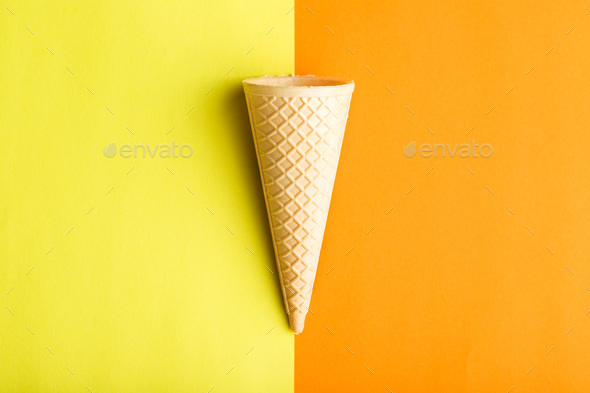Ice cream cone. - Stock Photo - Images
