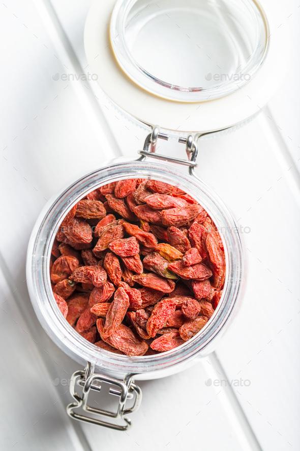 Dried goji berries. - Stock Photo - Images