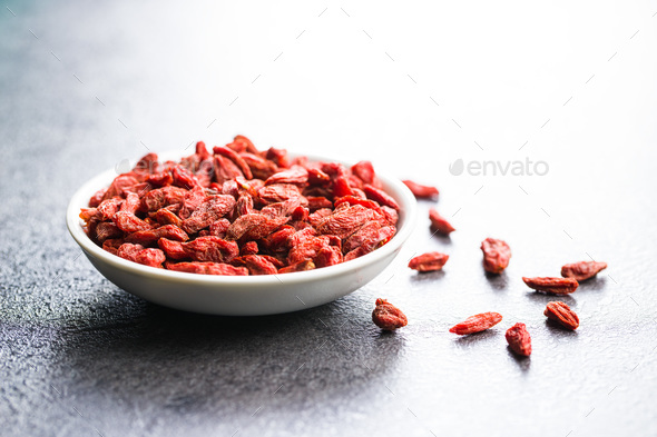 Dried goji berries. - Stock Photo - Images