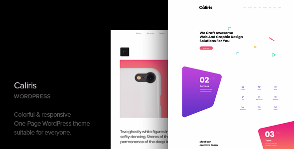 caliris - responsive one page wordpress theme (portfolio) Caliris – Responsive One Page WordPress Theme (Portfolio) banner
