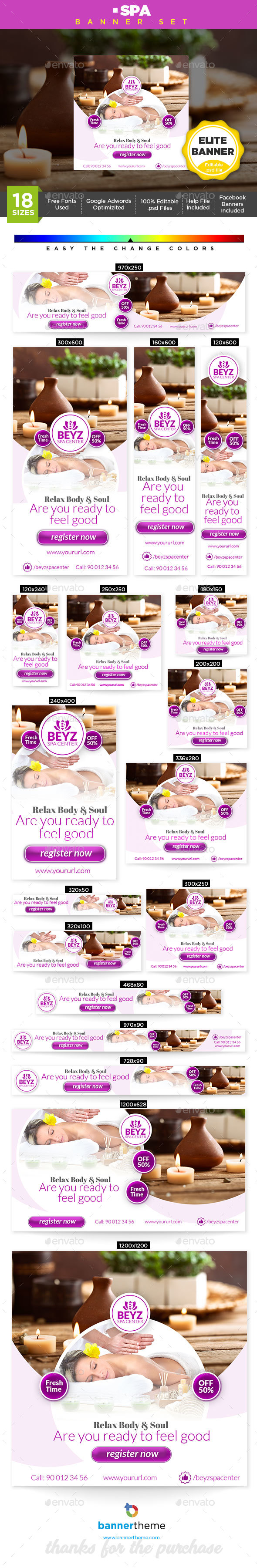 Spa Banner - Banners & Ads Web Elements