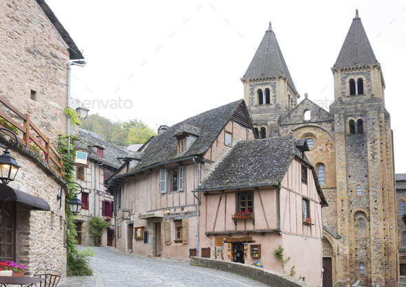street of Conques - Stock Photo - Images