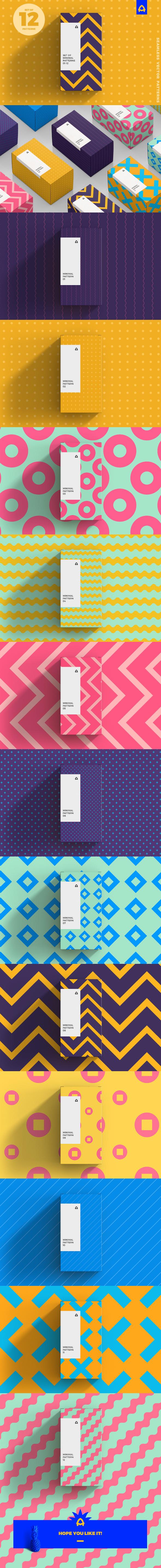 Set of Minimal Patterns - Textures / Fills / Patterns Illustrator