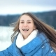 Young Pretty Woman Enjoying Herself at Winter Park. Laughing and Moving Around - VideoHive Item for Sale
