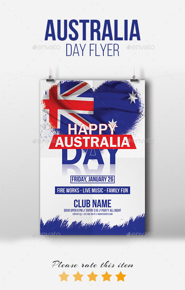 Happy Australia Day Flyer/Poster - Events Flyers
