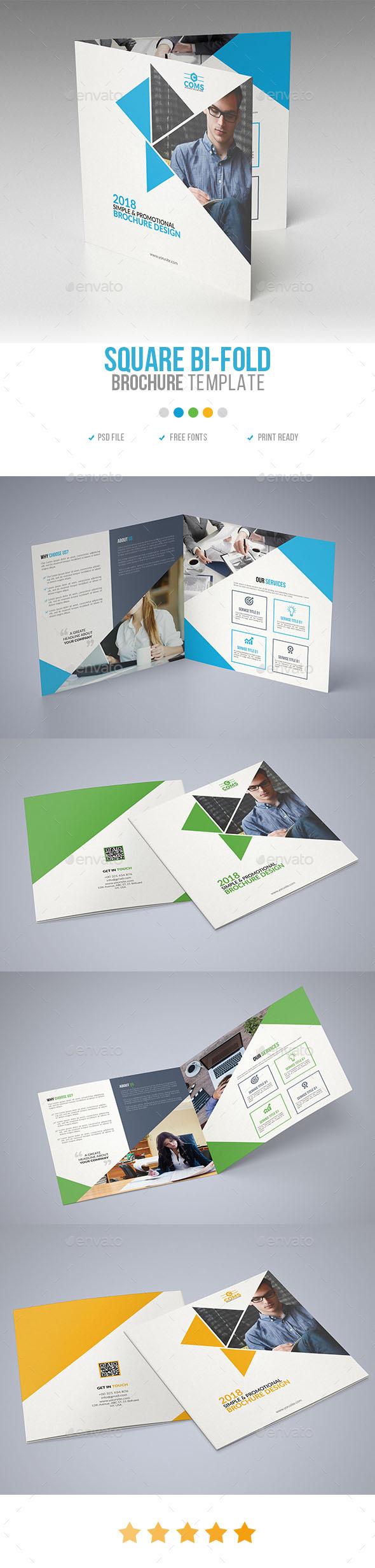 Corporate Square Bi Fold Brochure 03 - Corporate Brochures