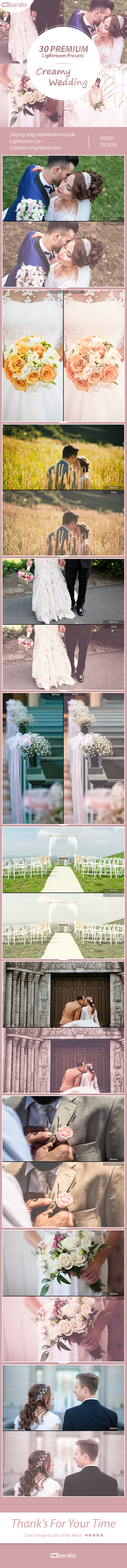 30 Premium Creamy Wedding Lightroom Presets - Wedding Lightroom Presets